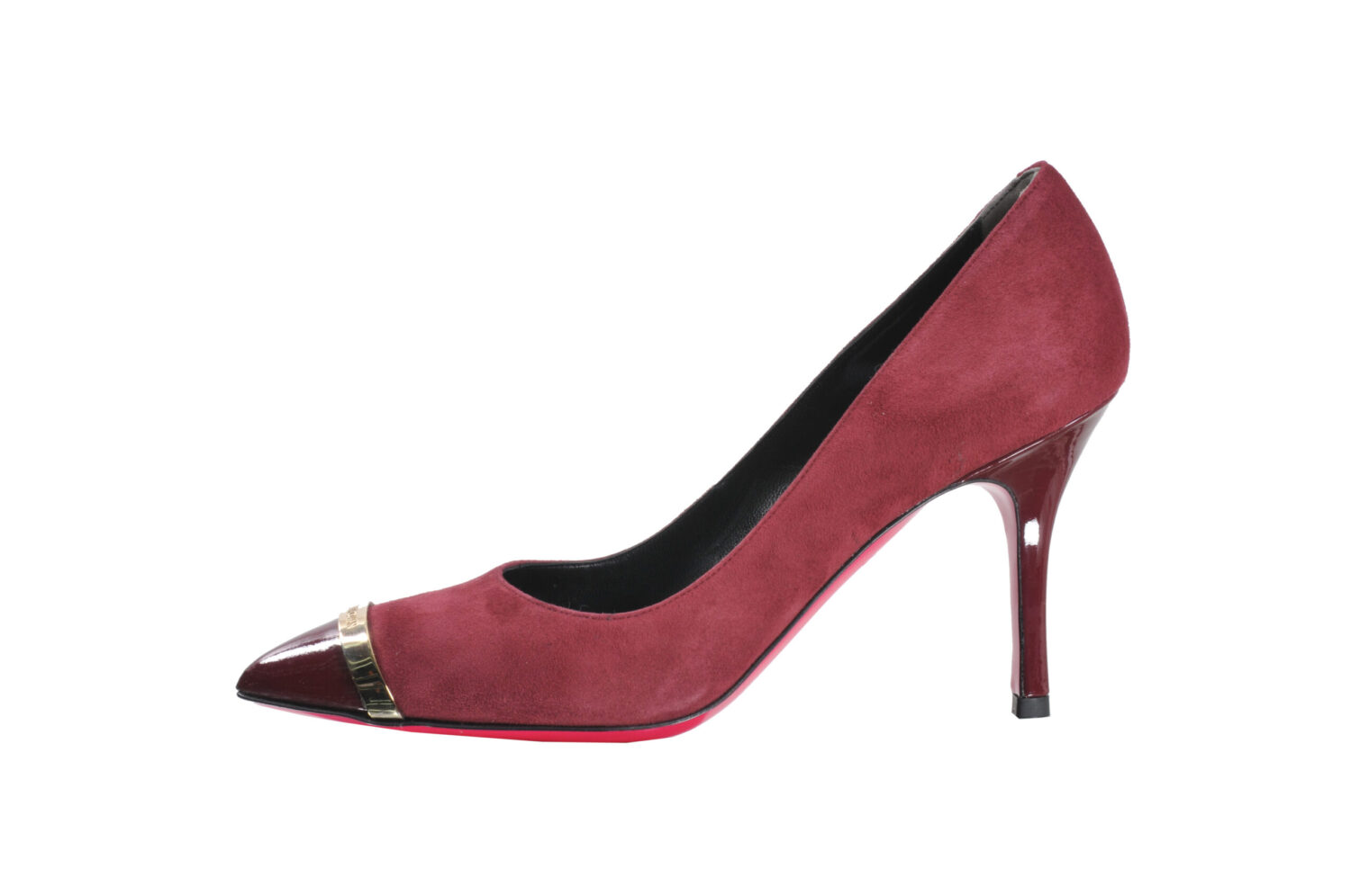 Luciano Padovan - Regina Raspberry Red Suede Court Shoe
