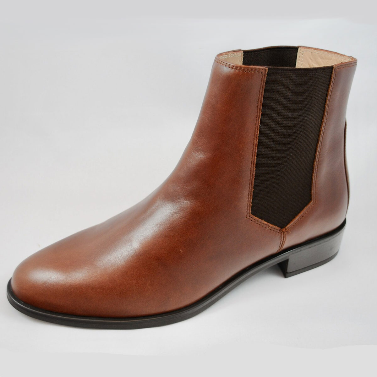 Unisa Belki Tan Leather Ankle Boot