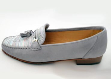 HB Italia - Ellie Grey Stripe Loafer