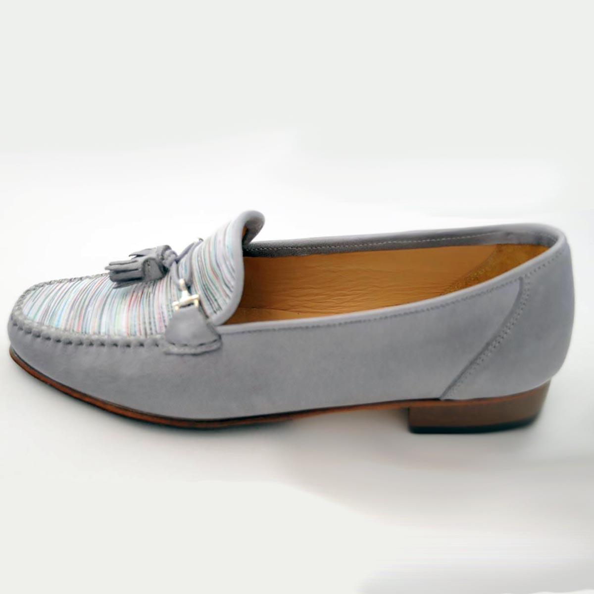 HB Italia - Ellie Grey Stripe Loafer