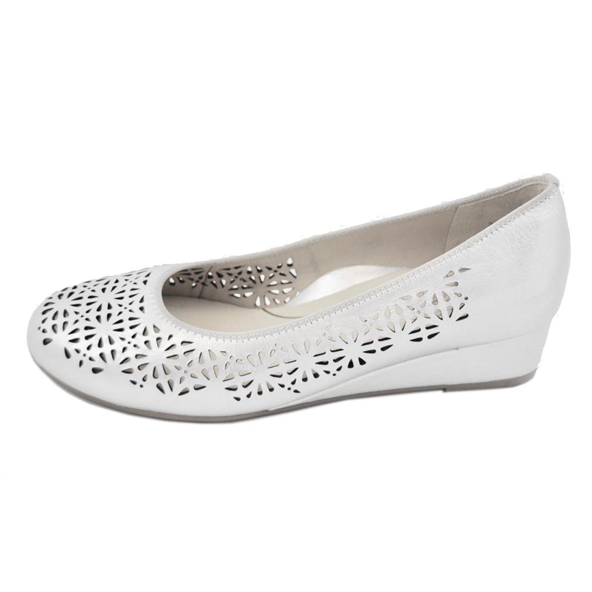 Ara - Livorno Silver Wedge Shoe
