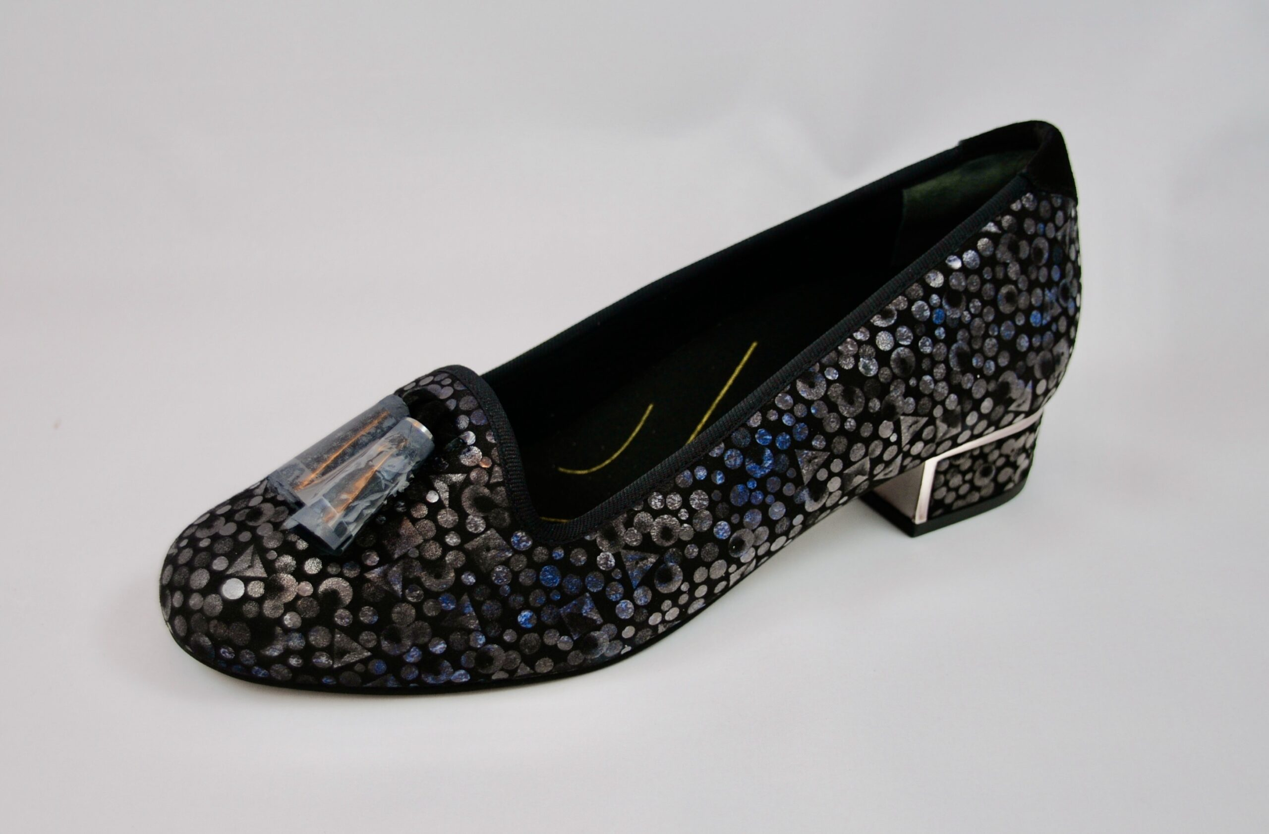Van Dal Thurlo Black Sequin Court Shoe