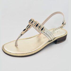 Amanda Jayne - Goldena Gold Summer Sandal