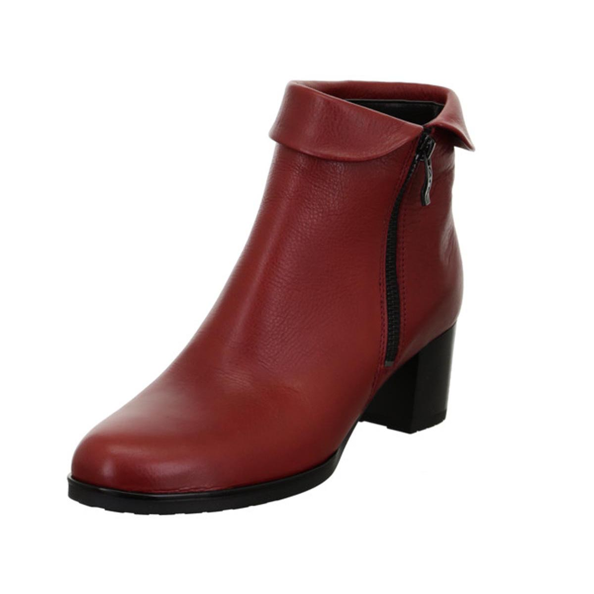 Ara - Rubin Red Leather Ankle Boot