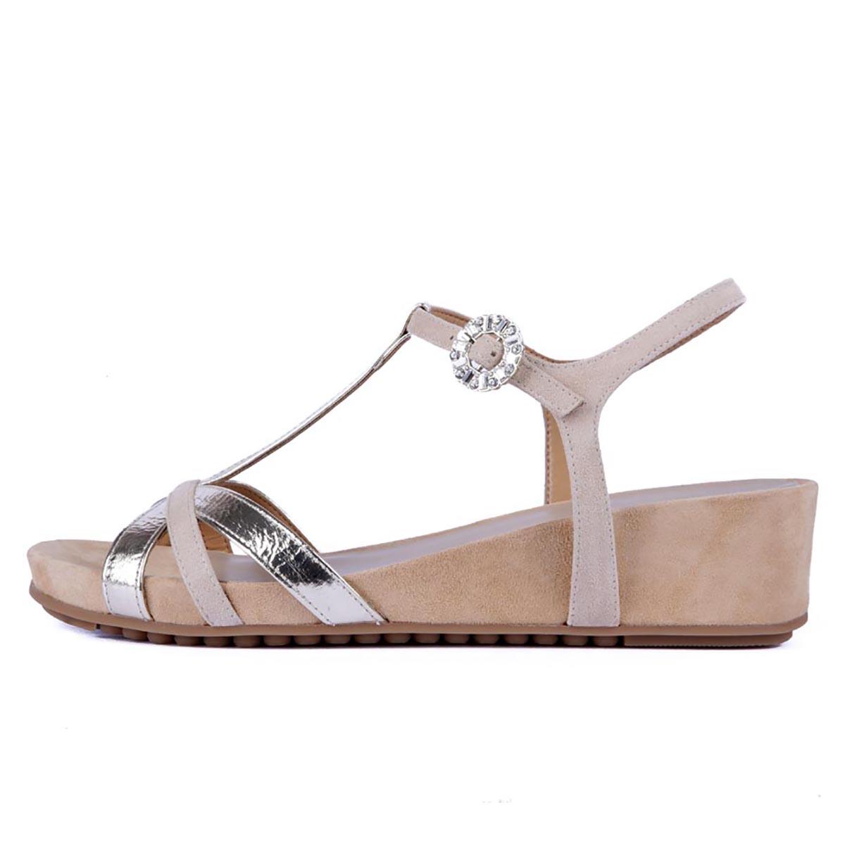 Unisa - Birinia Gold Summer Sandal