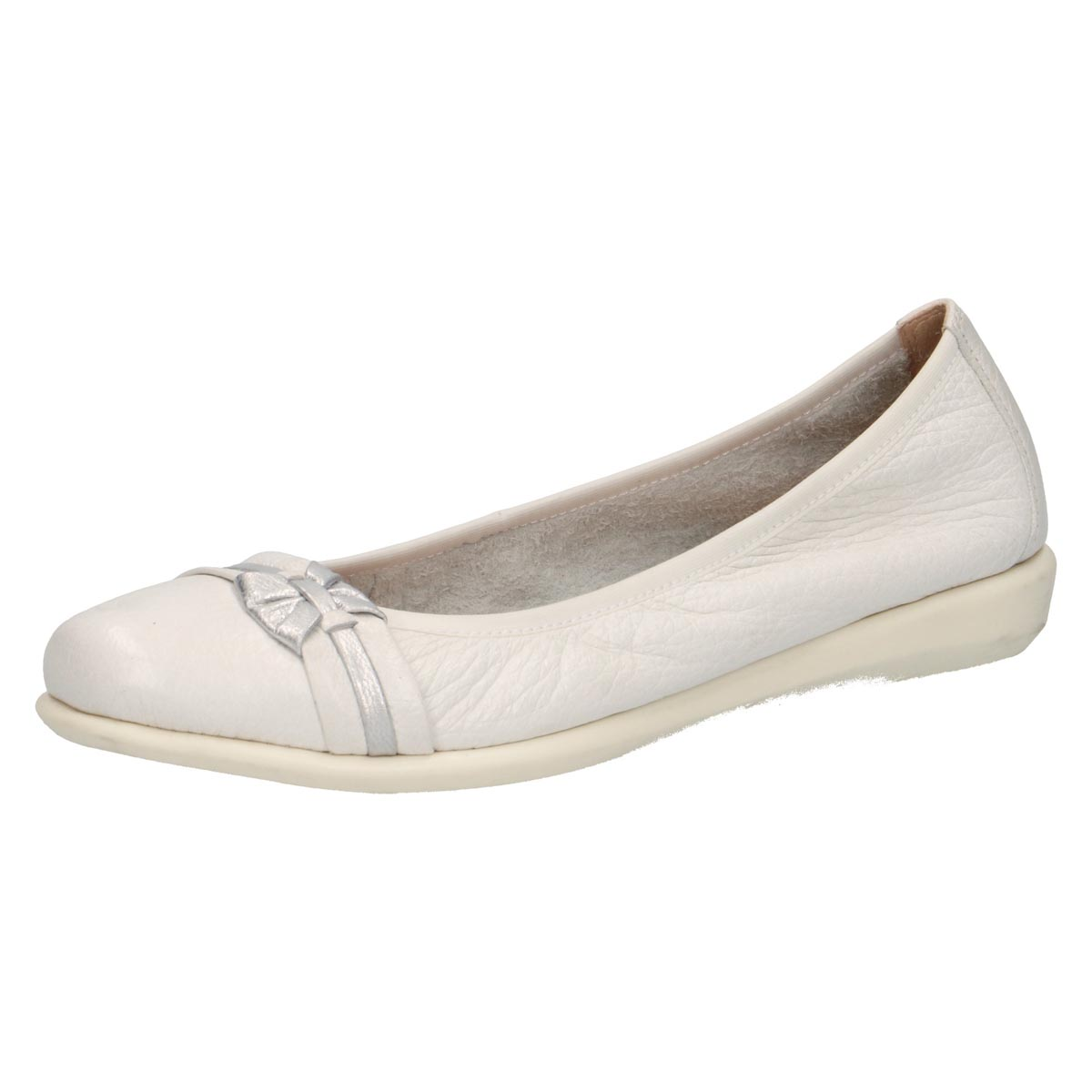Carole - Caprice Soft White Ballerina
