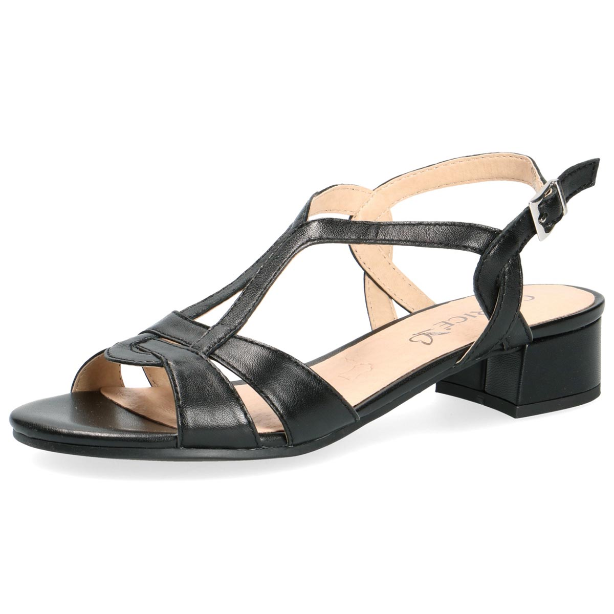 Zelda Nero - Caprice Black Summer Sandal