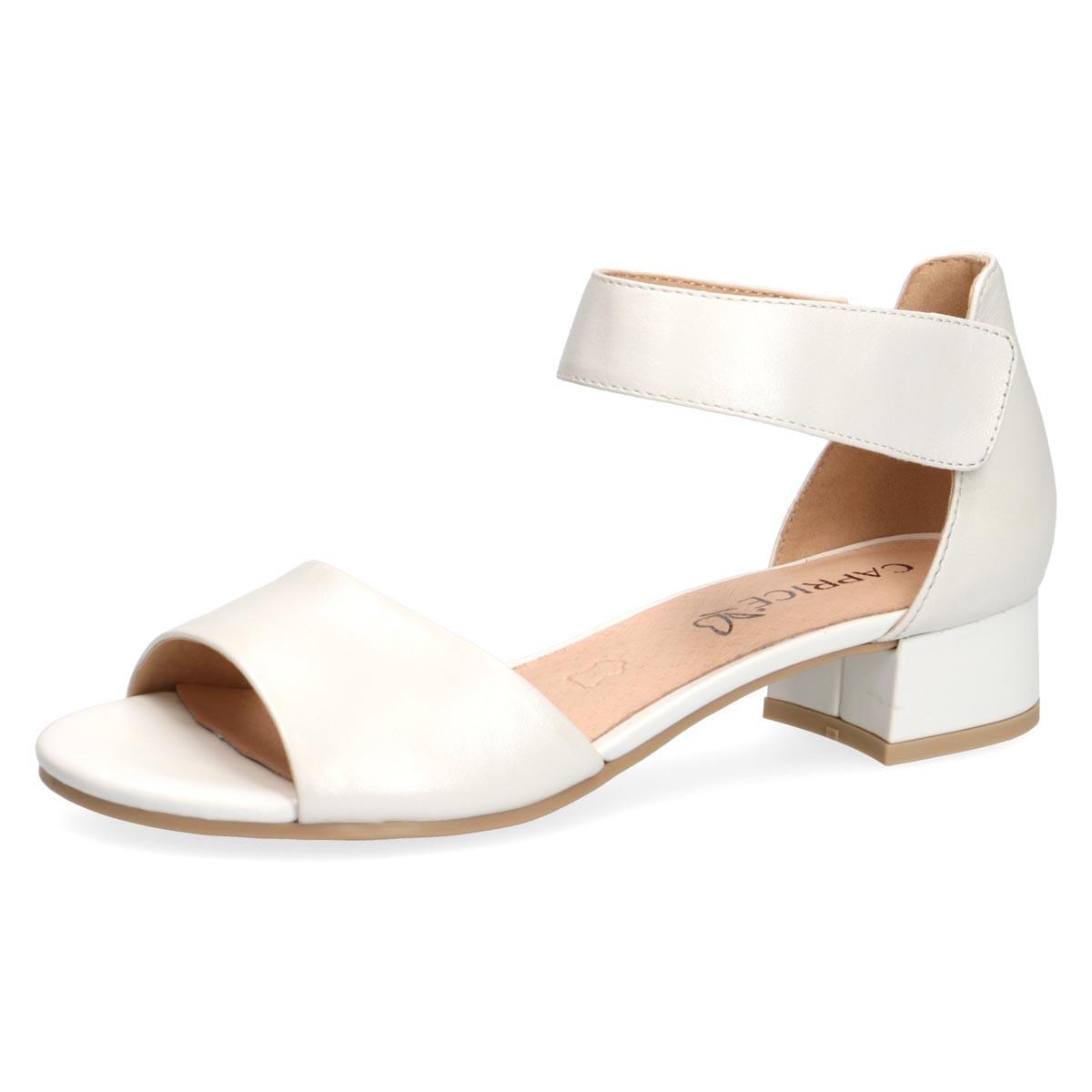 Flo White - Caprice White Shimmer Summer Sandal