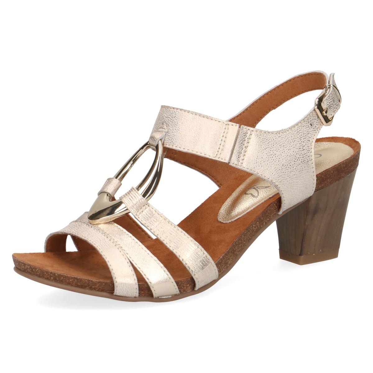 Verena - Caprice Gold Summer Sandal