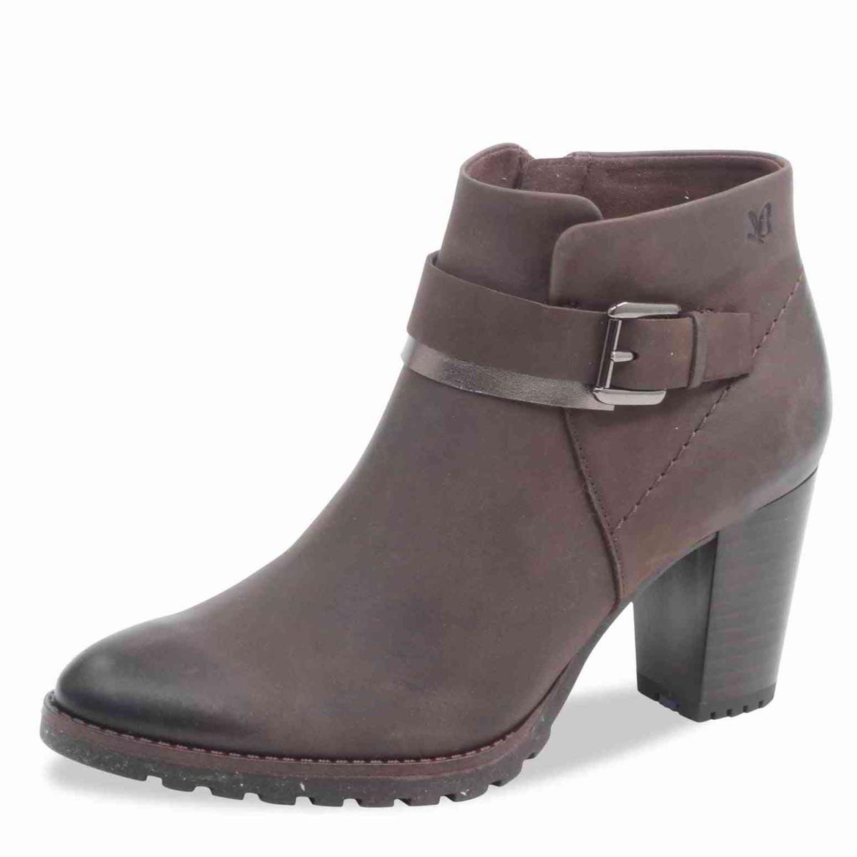Caprice - Carmela Brown Nubuck Ankle Boot