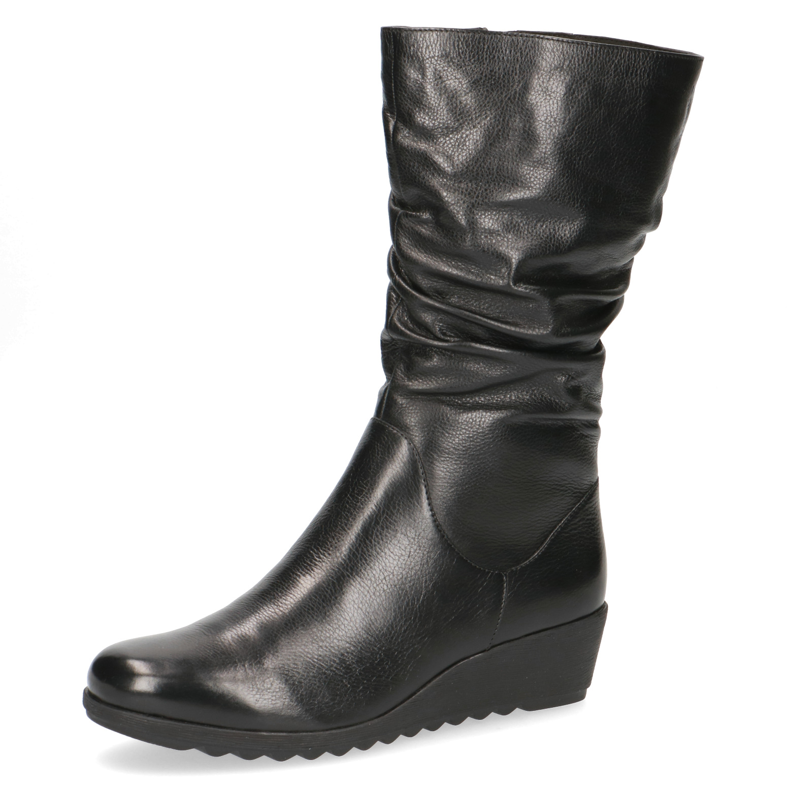 Caprice Eena black leather boot
