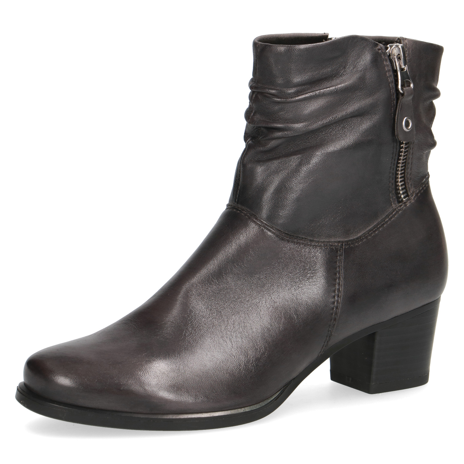 Caprice Laura Dark Grey Soft Leather ankle Boot