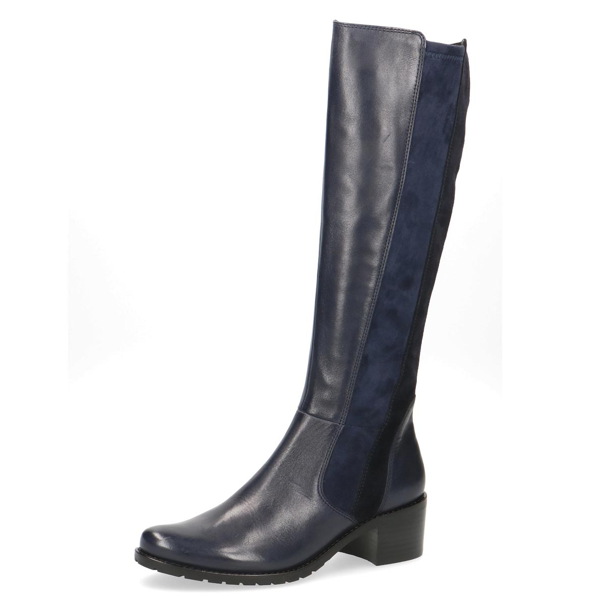 Caprice - Olivia Navy Leather Slim Long Boot