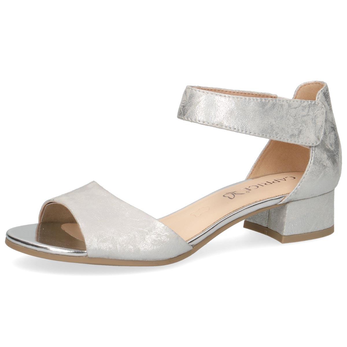 Caprice - Flo Silver Shimmer Summer Sandal