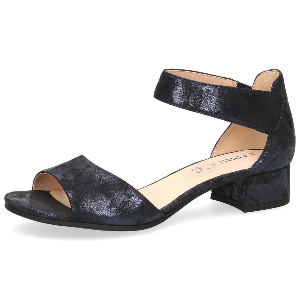 Caprice - Flo Navy Shimmer Summer Sandal