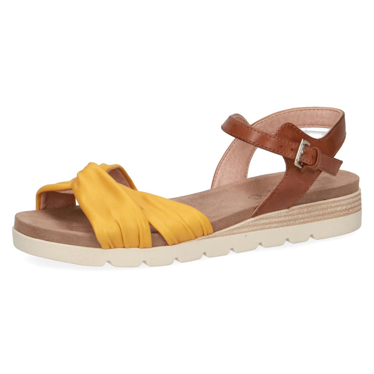 Caprice - Beatrice 2 Yellow and Tan Summer Sandal
