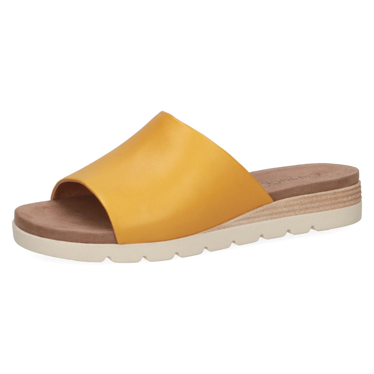 Caprice - Lemona Yellow Leather Mule