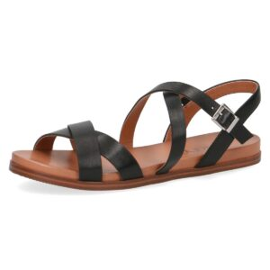 Caprice - Santorini Black Leather Sandal