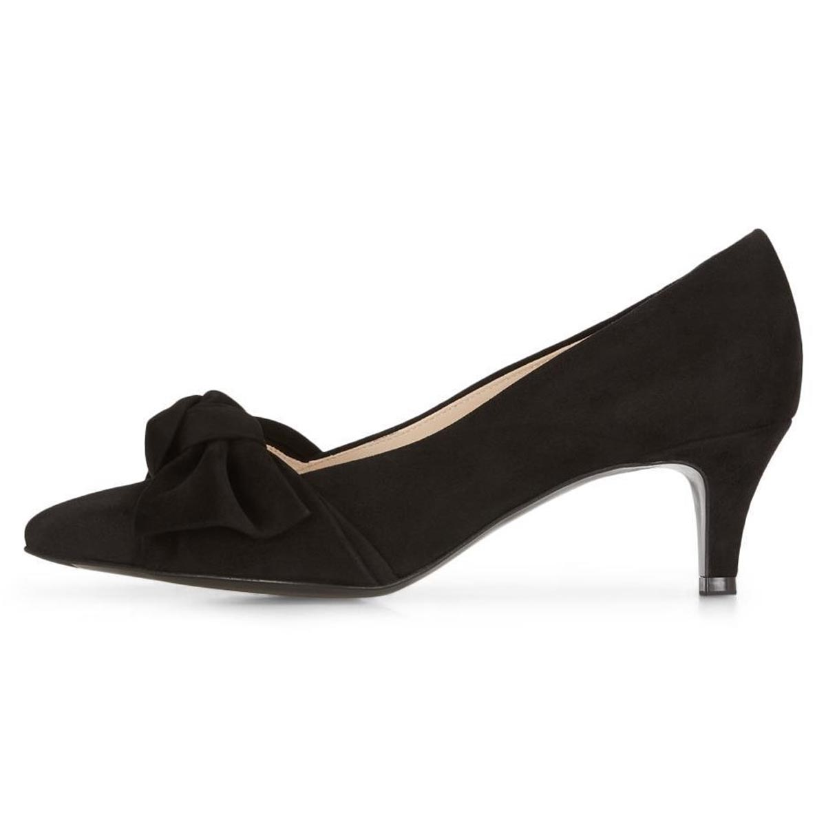 Carry - Peter Kaiser Black Suede Court Shoe