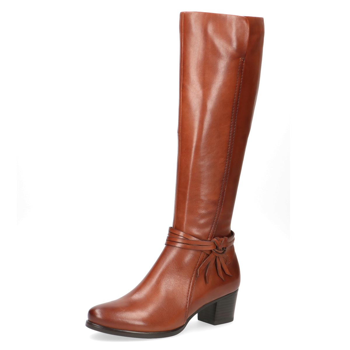 Caprice - Elsie Tan Slim Leather Long Boot