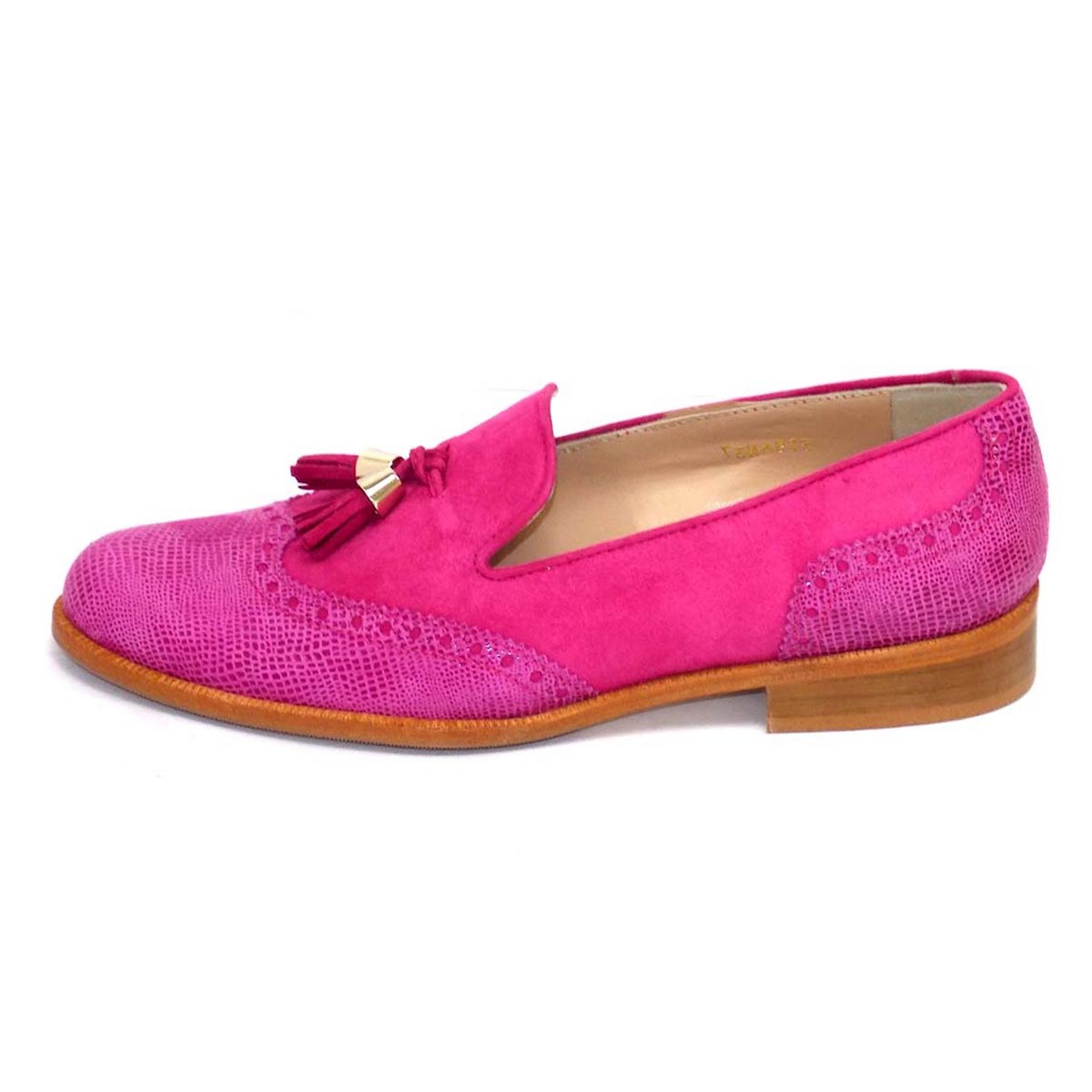 Lucia Pink - HB Pink Suede Brogue