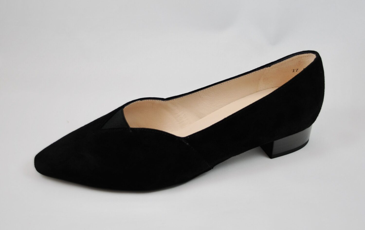 Peter Kaiser Abina Black Suede Pump