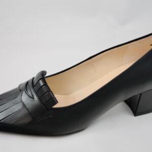Peter Kaiser Black Leather Court Shoe