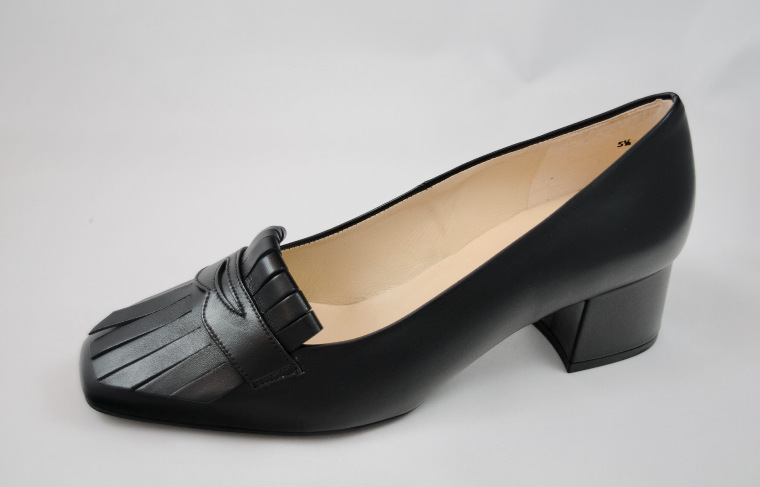 Peter Kaiser Black Leather Court Shoe