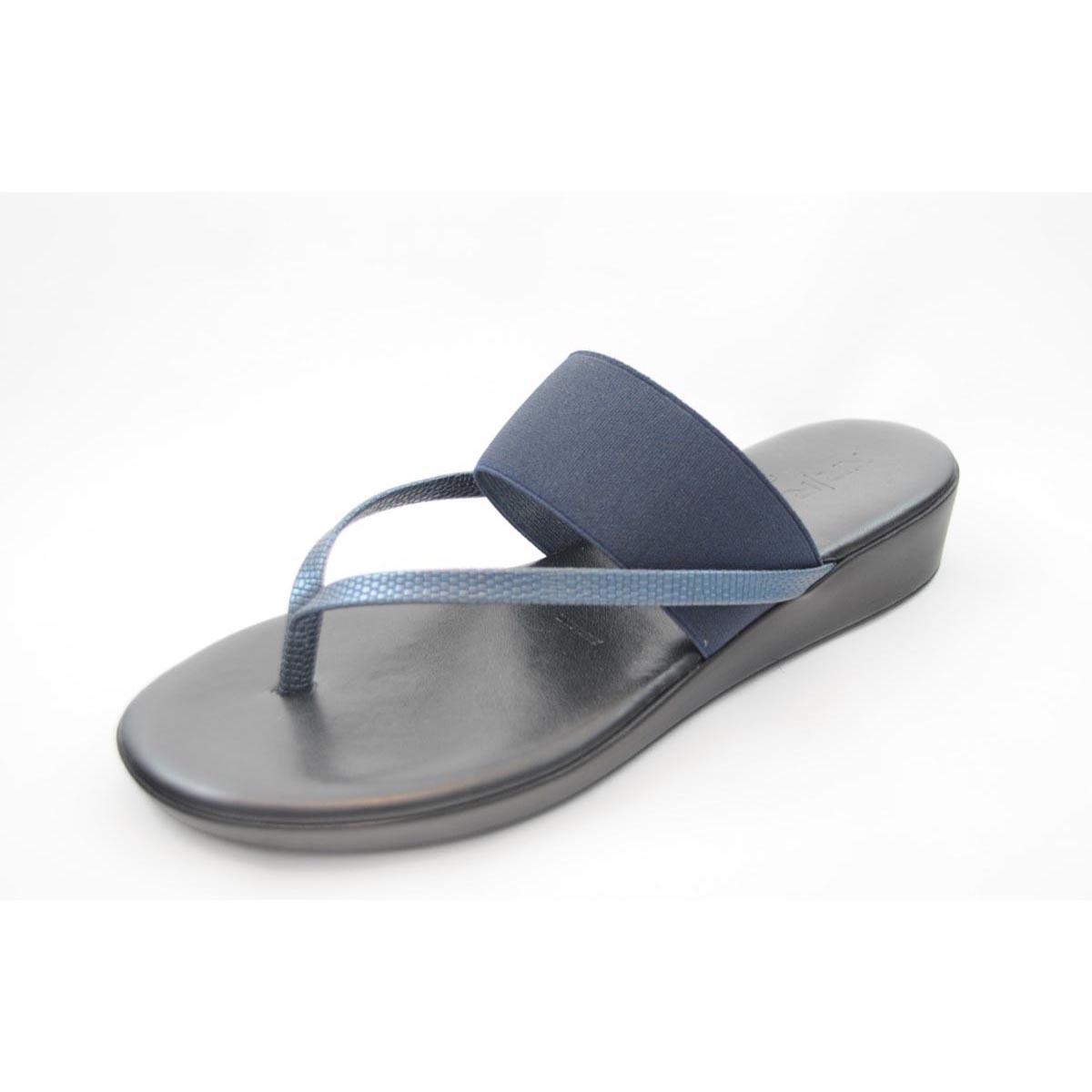 Rapisardi - Milena1 Navy Wedge Sandal