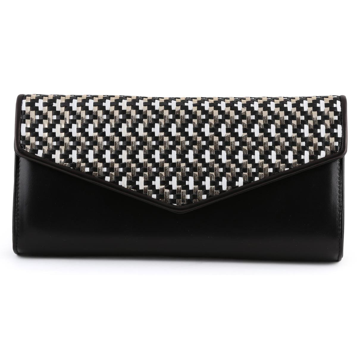 Renata- Black and Gold Clutch Bag