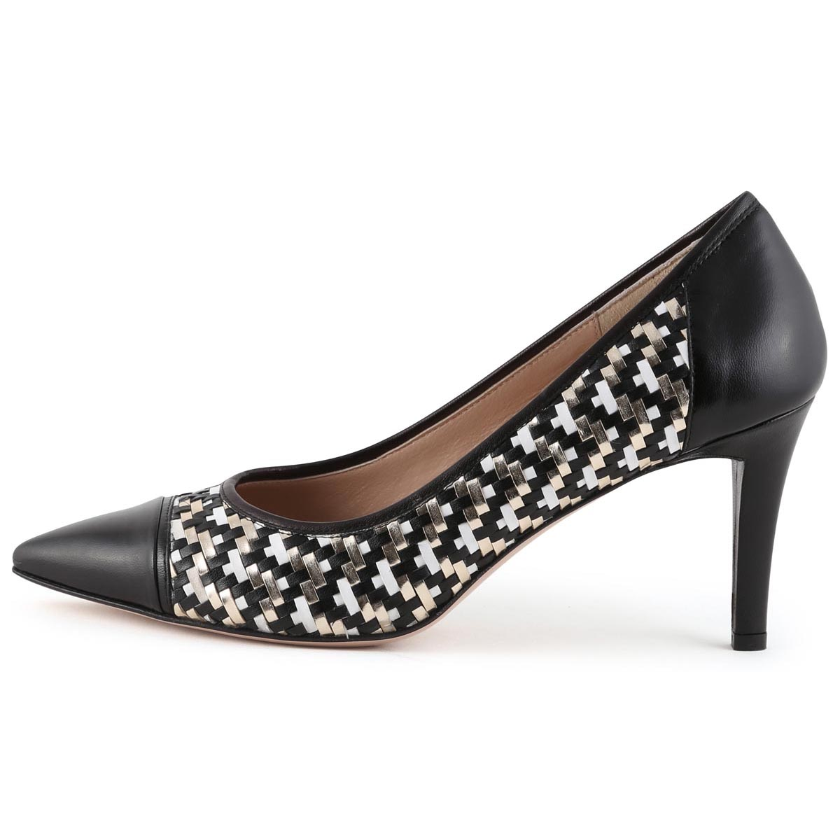 Nigella - Renata Black and Gold Occasion Shoe