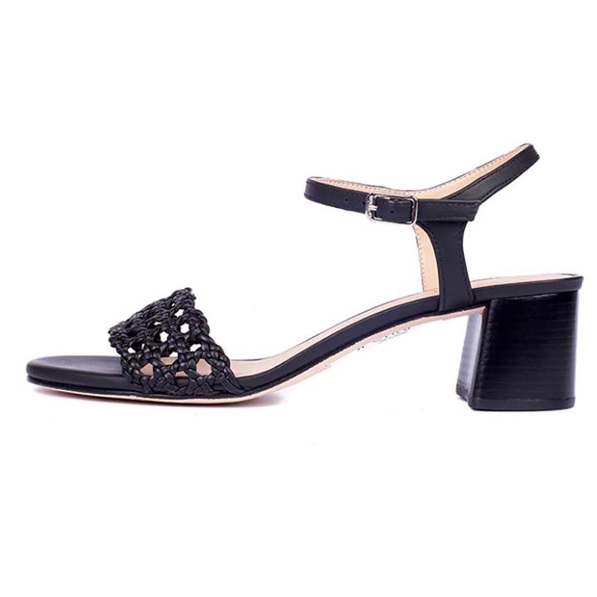 Unisa - Gita Black Mid Heel Sandal