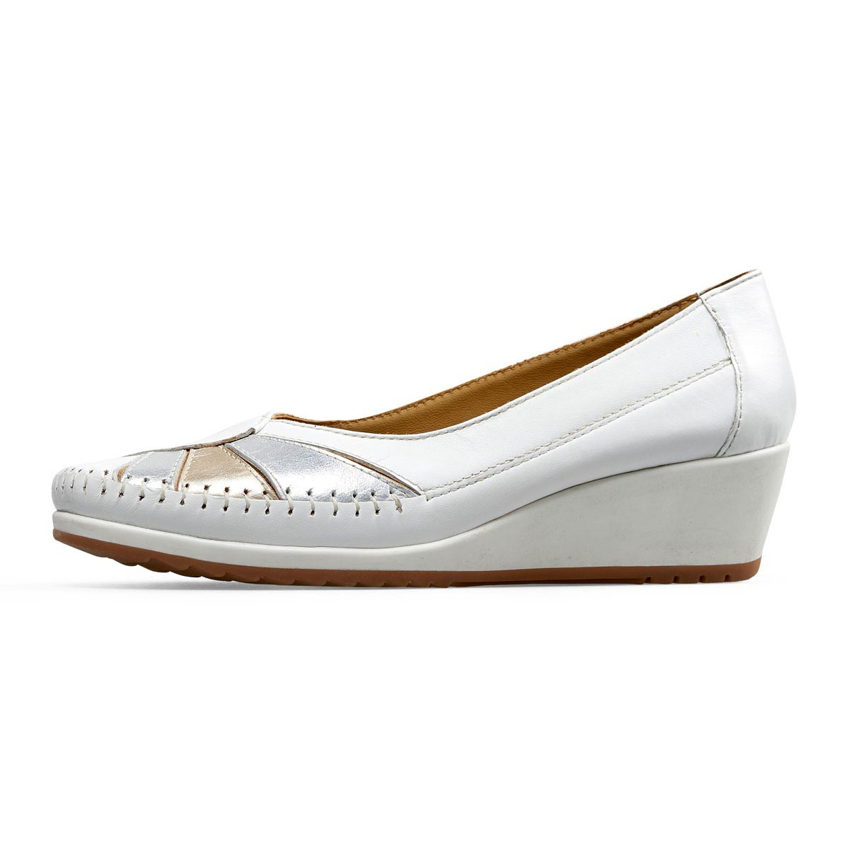 Van Dal - River White Leather Wedge