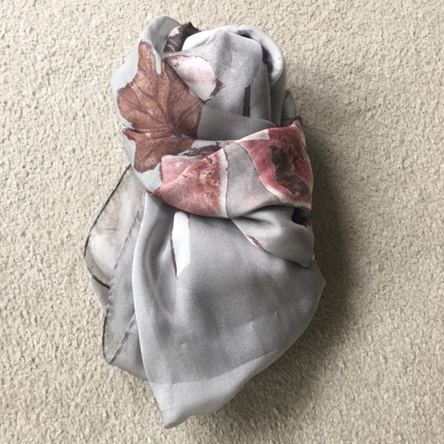 Italian Silk Chiffon Scarf