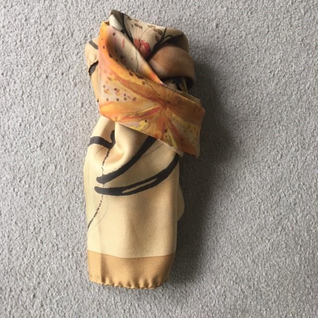 Italian silk neck scarf