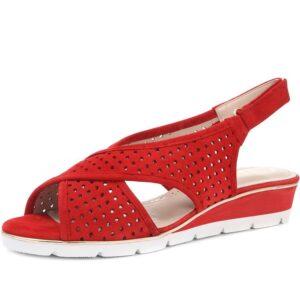 Van Dal - Elan Red Suede Summer Sandal