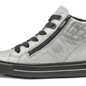 Ara Susie Grey Hi Top Lace Up Ankle Boot