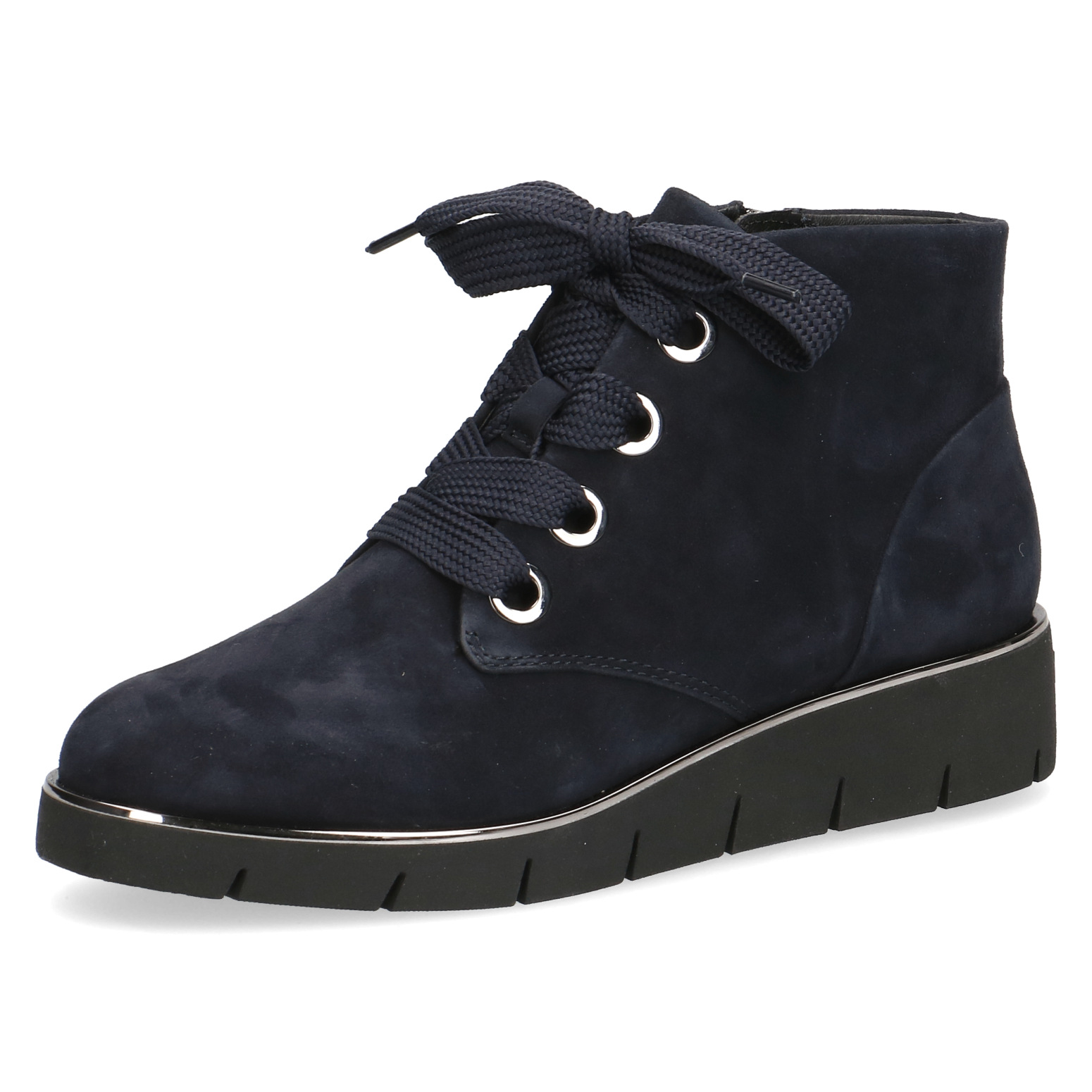 Caprice Verity Navy Suede Lace Up ankle boot